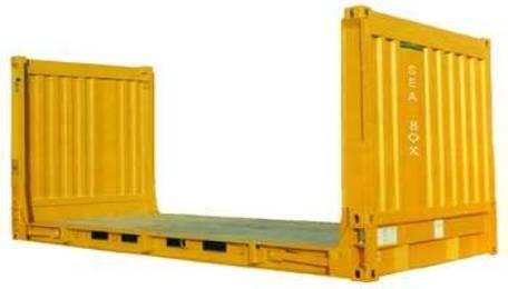 Виды контейнеров - контейнеры с плоским стеллажом